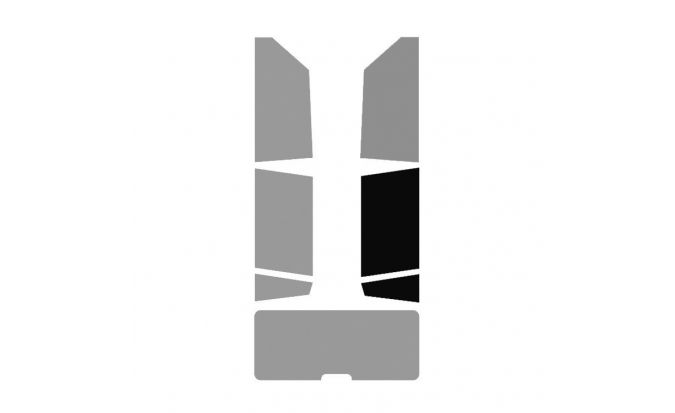 1 vitre arrière Droite véhicule 4-5 portes